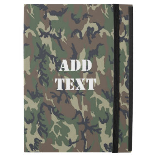 """Military Green Camouflage Pattern iPad Pro 12.9"""" Case"""
