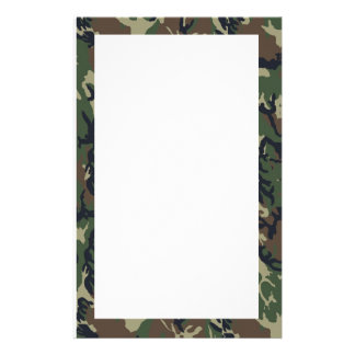 Military Green Camouflage Pattern Personalized Stationery
