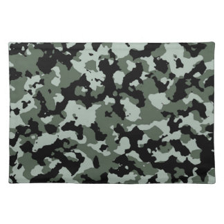Military Green Camouflage Pattern Placemats