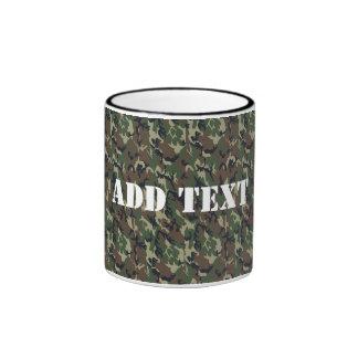 Military Green Camouflage Pattern Ringer Mug