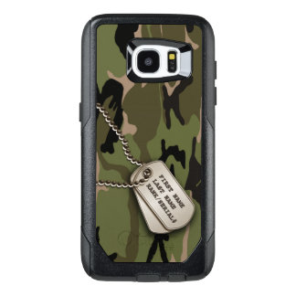 Military Green Camouflage with Dog Tags