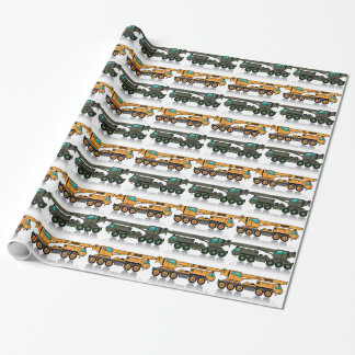 Military heavy crane truck wrapping paper