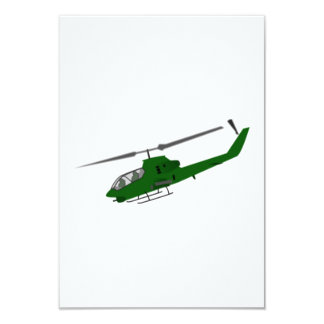 Military Helicopter 9 Cm X 13 Cm Invitation Card