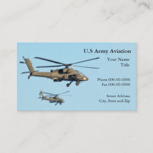 Military pilot business cards business card printing zazzle military helicopter business card reheart Images