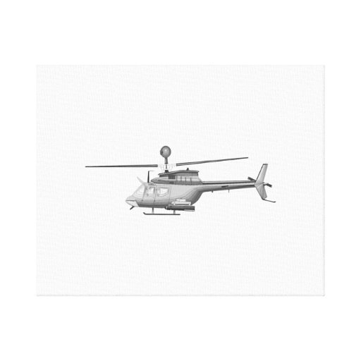 Military Helicopter Stretched Canvas Print