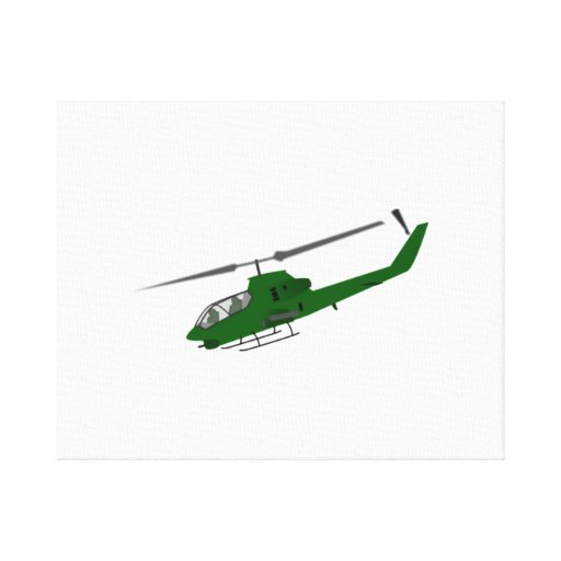 Military Helicopter Stretched Canvas Prints