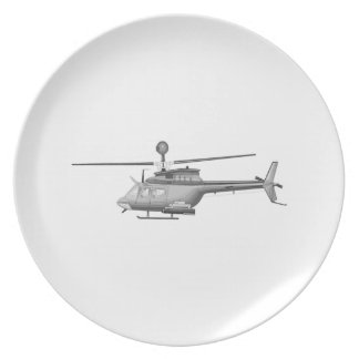 Military Helicopter Plates