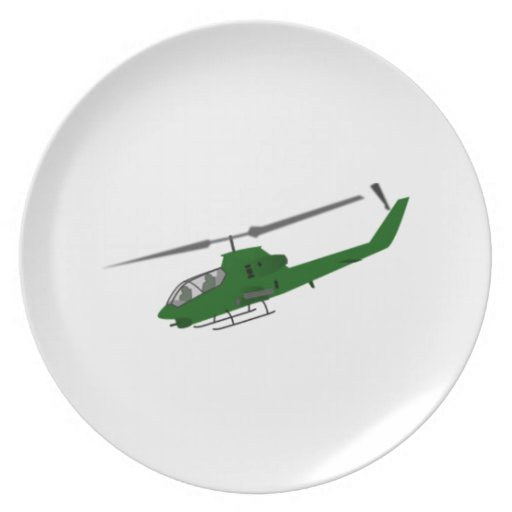 Military Helicopter Party Plates