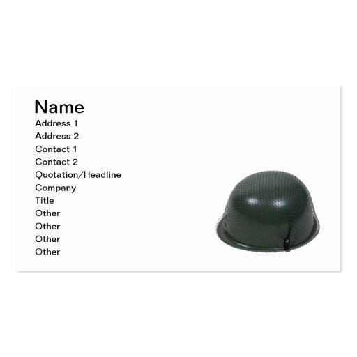 Military Helmet Netting Business Card Template
