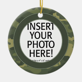 Military Hero - Camo DOUBLE-SIDED Ceramic Ornament