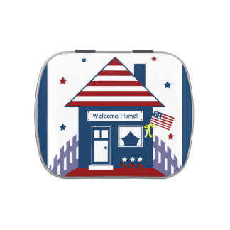 Military Homecoming Candy Favor Tin Jelly Belly Tins