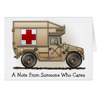 Military Hummer Ambulance Note Card