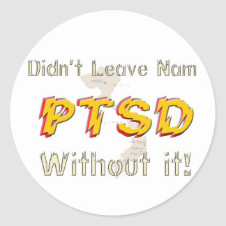 Military Humorous PTSD Stickers