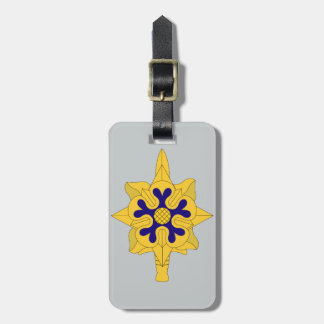 Military Intelligence Insignia Luggage Tag