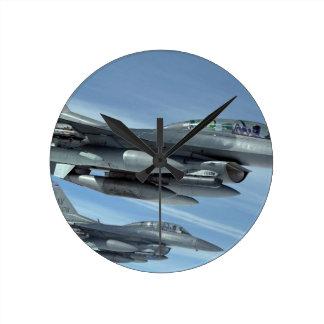 military jet round clock