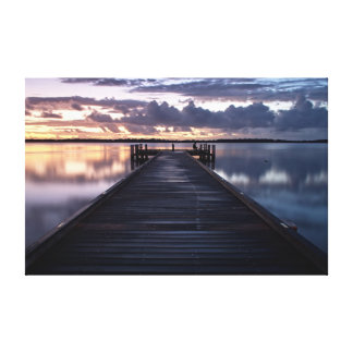 Military Jetty Canvas Gallery Wrapped Canvas