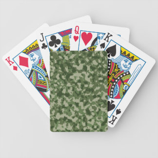 Military Jungle Green Camouflage Bicycle Playing Cards