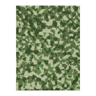 Military Jungle Green Camouflage Canvas Print