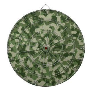 Military Jungle Green Camouflage Dartboard
