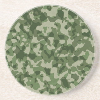 Military Jungle Green Camouflage Drink Coaster
