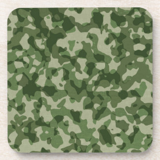Military Jungle Green Camouflage Drink Coasters
