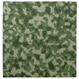 Military Jungle Green Camouflage Napkin