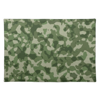 Military Jungle Green Camouflage Placemat