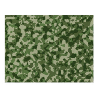 Military Jungle Green Camouflage Postcard