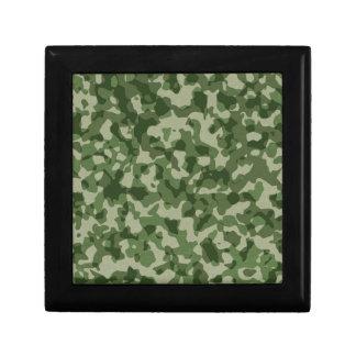 Military Jungle Green Camouflage Small Square Gift Box