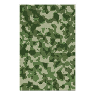 Military Jungle Green Camouflage Stationery