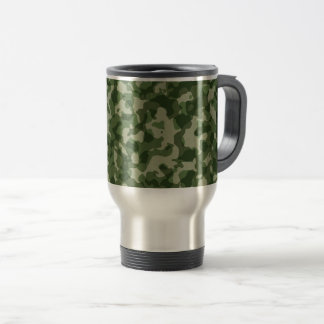 Military Jungle Green Camouflage Travel Mug