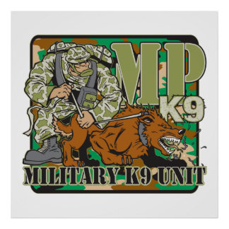 Military K9 Unit Poster