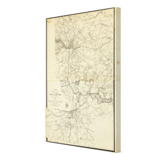 Military Map of the United States Gallery Wrap Canvas