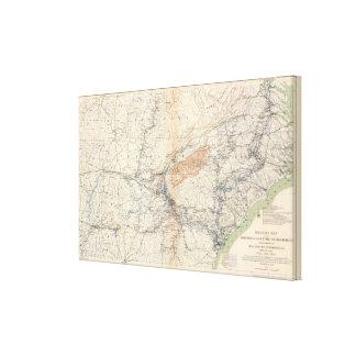 Military map, WT Sherman Canvas Print