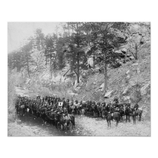 Military Men in Rows on Horseback Photograph Posters
