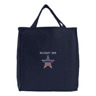 Military Mom Embroidered Bag