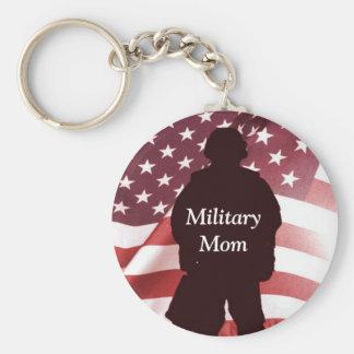 Military Mom Patriotic Pride Key Ring