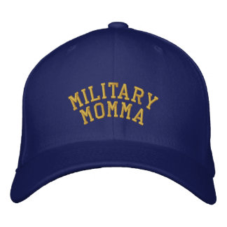 Military Momma and Proud of it Embroidered Baseball Cap