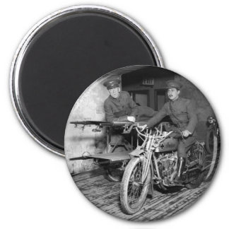 Military Motorcycle EMT, 1910s 6 Cm Round Magnet
