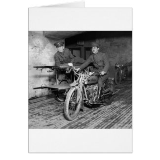 Military Motorcycle EMT, 1910s Greeting Cards