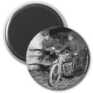 Military Motorcycle EMT 1910s Fridge Magnet