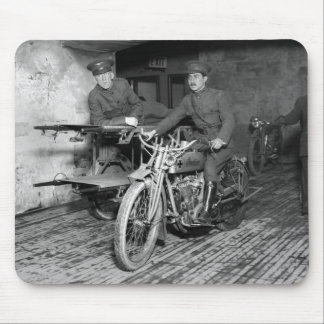 Military Motorcycle EMT, 1910s Mouse Pad