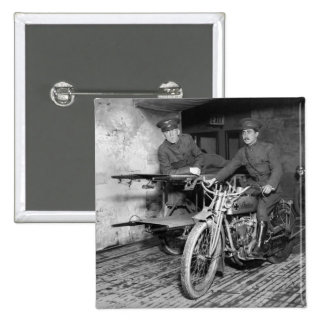 Military Motorcycle EMT 1910s Pinback Button