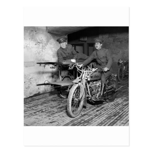 Military Motorcycle EMT, 1910s Post Cards