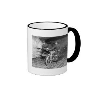 Military Motorcycle EMT, 1910s Ringer Mug