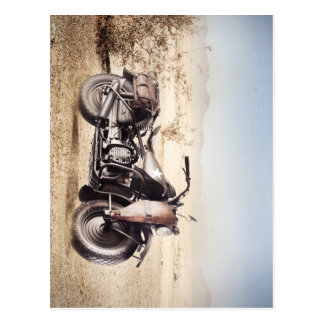 Military Motorcycle Postcard