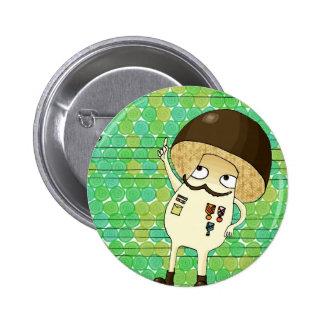 Military mushroom pin