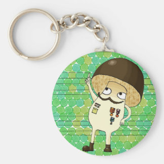 Military mushroom basic round button key ring