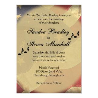 Military Music Wedding Invitations