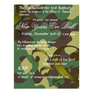 Military New Years Eve Ball Invitation